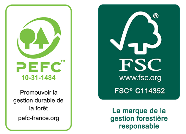 Nos certifications PEFC et FSC